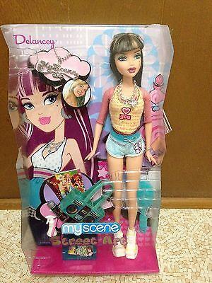 Barbie My Scene Street Art Delancey Doll Highlighted Brunette Hair New Rare