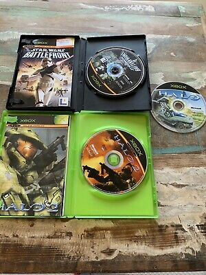 Halo Halo 2 & Star Wars Battlefront Original Xbox