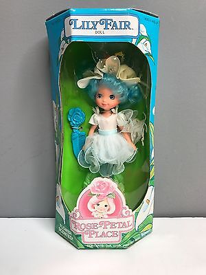 Vintage Kenner Rose-Petal Place Lily Fair Doll In Box -  Blue Box - Plastic torn