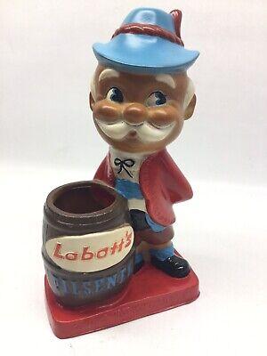Vintage Labatt's Pilsener Beer Vinyl Adverting Display Figure
