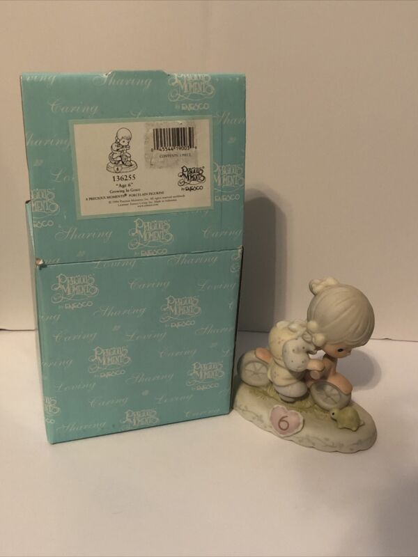 Precious Moments Growing in Grace Age 6 Blonde Girl Figurine 1994 136255