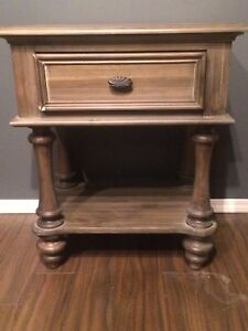 Grey washed side table