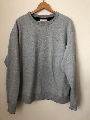 Vintage 90s Grey Champion Small Logo Crewneck Sweatshirt Nike Adidas Large