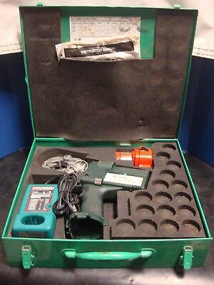 Greenlee Ek22gl Gator Plus Cordless Battery 6 Ton Crimper Set Case Charger