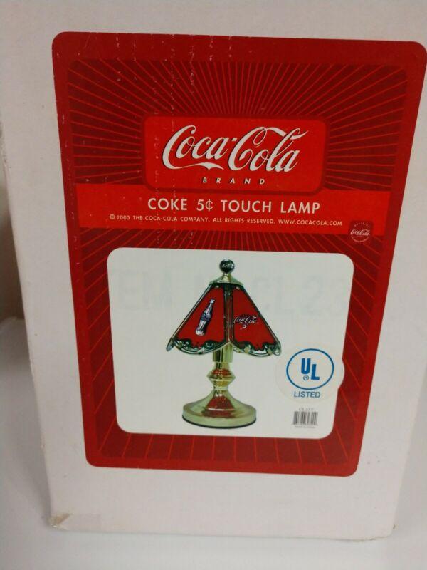 Vintage Coca Cola Touch Lamp (NIB)