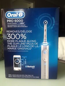 Oral B Pro 6000 Electric Toothbrush & 5 Replacement Brushes
