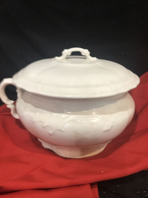 Antique China Chamber Pot By Kt & K