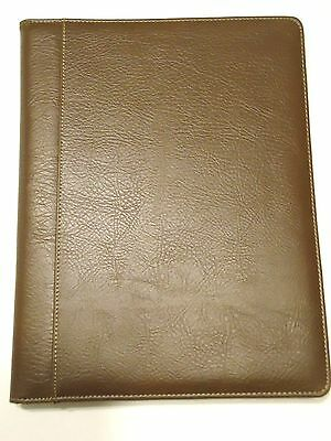 Buxton Professional Genuine Writing Pad Portfolio Brown