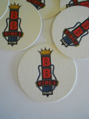 SET OF 6 BB KINGS BLUES CLUB BEER COASTERS MATS BEALE ST. MEMPHIS