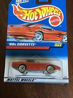 '80s CORVETTE, Hot Wheels #1996-503, Metallic Red, NEW, LW wheel variation