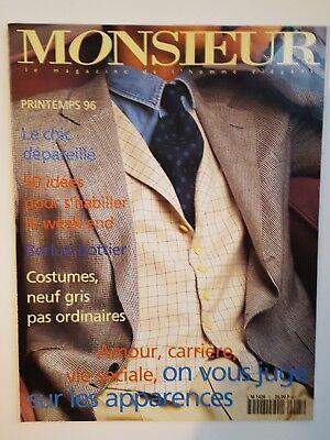 1996 Monsieur Mens Fashion Magazine Paris Edition Lauren Bond Watch Ad Montaigne