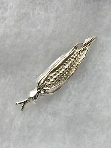 New! Sterling silver corn pendant charm