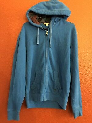 Burberry Hoody - Burberry Brit Mens Blue Full Zip Hoodie Jacket Check Plaid XL