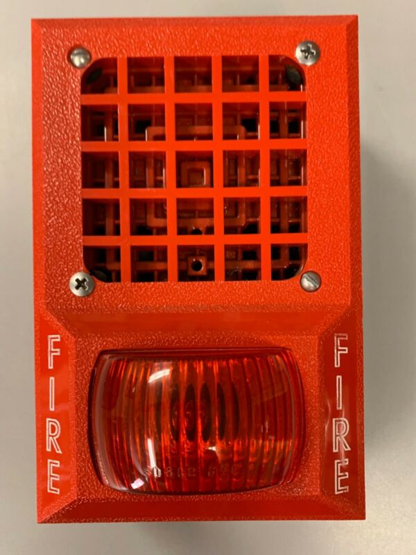Vintage Fire Alarm Horn/Light with back box.