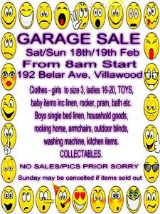 GARAGE SALE -- VILLAWOOD - TODAY & TOMORROW Villawood Bankstown Area Preview