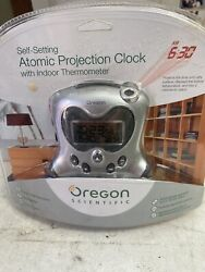 Oregon Scientific Self Setting Atomic Projection Clock with Indoor Thermometer