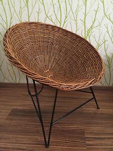 50er Jahre Design Korbsessel Lounge Sessel Auböck String Era