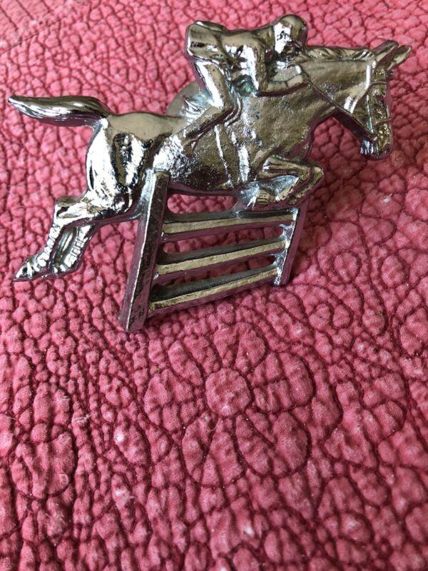 Jumping Horse Equestrian Car Truck Grill Ornament Emblem Medallion - NEW