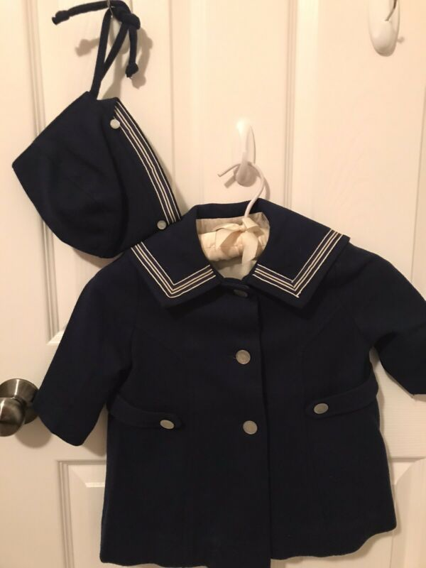Vintage Childs Sailor Coat And Hat