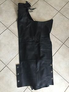 Women's Harley brand riding chaps.