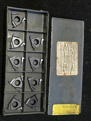 Qty. 9 Iscar 16er A 60 Ic908 Carbide Threading Inserts. External 16-48 Pitch