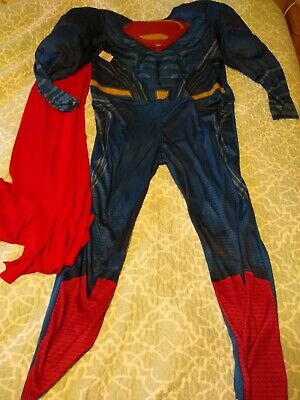 Superman Men's XL Muscle Bodysuit with Red Cape Rubies Halloween Costume
