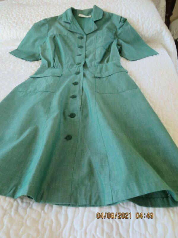 Vintage Intermediate/Junior Girl Scout Uniform Dress 1962-1968 girls size 8