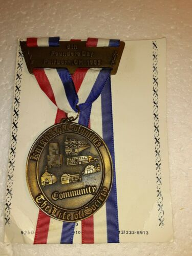 1985 KNIGHTS OF COLUMBUS 6TH FOUNDERS DAY FAIRBORN OH MEDAL