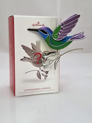 Hallmark Mystery Repaint Ornament 2018 Hummingbird Surprise Greeen / Blue 2213GR