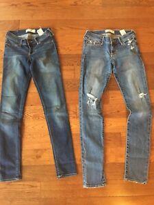 Girls Abercrombie skinny-jeans sz 14 slims
