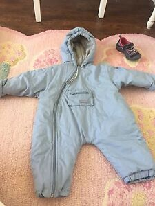 Snow suit and spring blue jacket 6-12 month