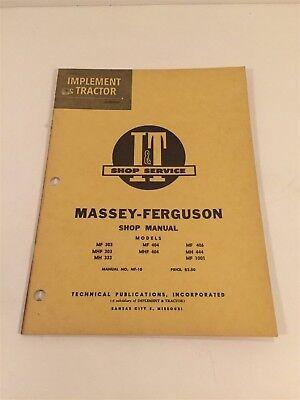 Vintage Implement Tractor Shop Manual - Massey Ferguson 303 333 404 406 444