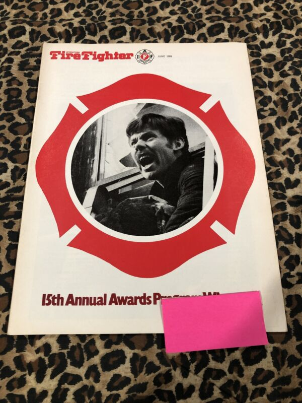 INTERNATIONAL FIREFIGHTER IAFF BOOKLET  June 1980 15th  annual awards