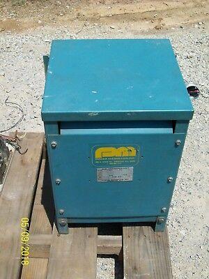 Pmi Power Magnetics Transformer 10 Kva 1 Phase Pri 460 Sec 230 Type D