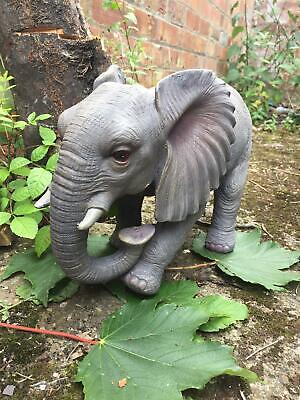 Elephant Figurine Statue Garden Ornament Lawn Decoration Sculpture Wild Animal
