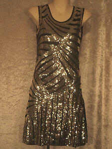 1920's Great Gatsby Style Flapper  Party Dress of  gold, silver or black sequins