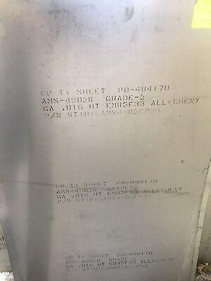 .016x24x36 Cp Titanium Sheet Grade 2