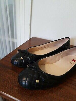 Hogl Black Leather Ballet Shoes Size 5