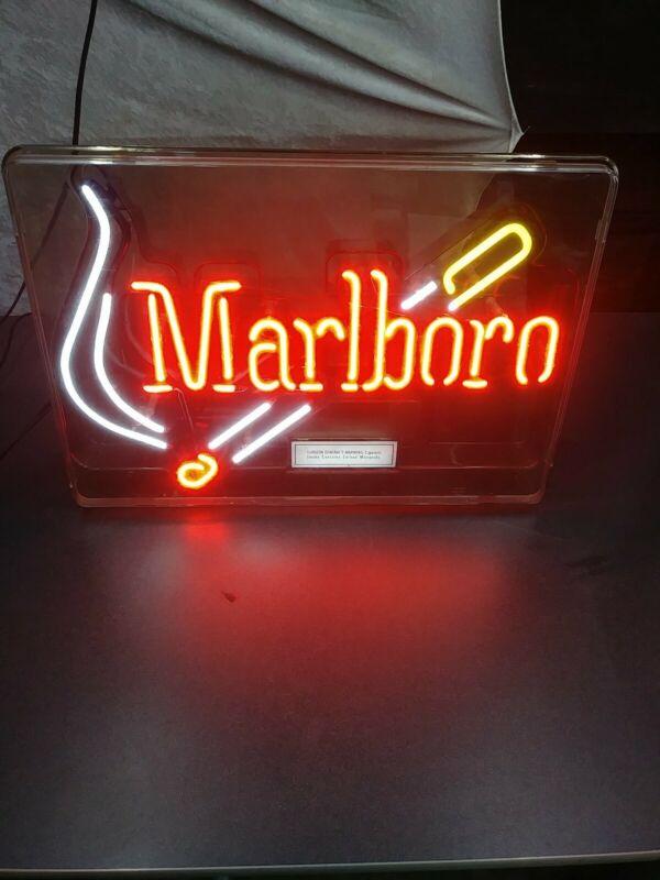 VINTAGE MARLBORO SIGN 1997 MARLBORO NEON LIGHT PHILIP MORRIS CIGARETTE SIGN