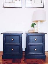 BEDSIDE TABLES x2 ANNIE SLOAN GRAPHITE GREY Manly Manly Area Preview