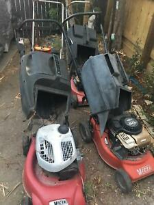 MOWERS FOUR OUT OD DAD'S SHED. AS IS CONDITION