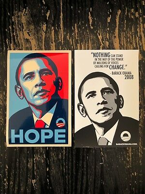 2008 Authentic Shepard Fairey x Barack Obama HOPE Campaign (Barack Obama Hope Sticker)