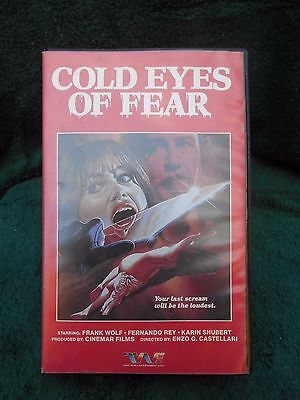 Cold Eyes Of Fear  Vhs  Hard Clamshell Box  Trans World Entertainment  U S A