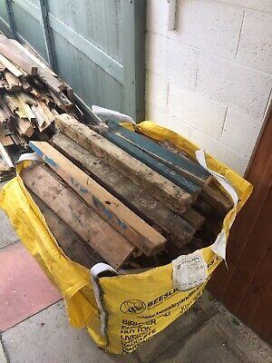Tonne Bag Full Of Fire Wood For Chiminea Fire Pit Wood Burner Stove Etc