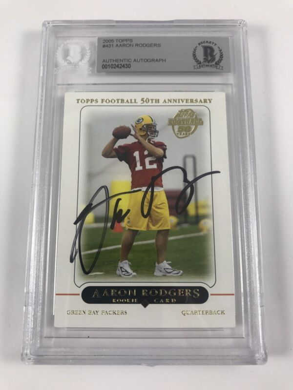 competitive price 511b1 0d920 Aaron Rodgers Autographs For Sale by RACC Trusted Sellers ...