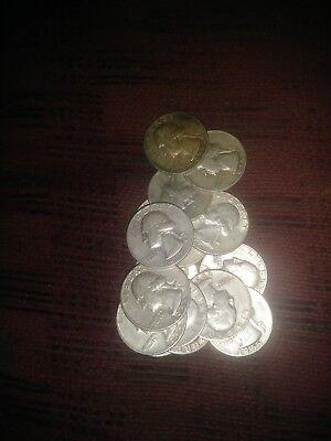 Semi key date 1955 P 90% Silver Washington Quarter