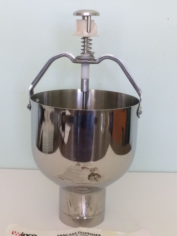 Winco #PCDS-6 Stainless Steel Pancake & Waffle Batter Dispenser Very Good Used