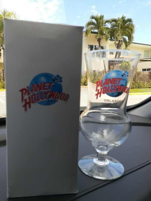 "Planet Hollywood Orlando Hurricane Souvenir Glass 8"" NIB NEW"