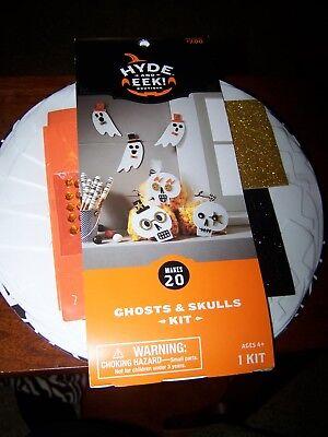 Halloween Children's Arts And Crafts (New Halloween Kids Foam Art Craft kit 20 party ghosts skulls Hyde and Eek)