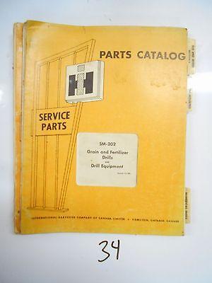 Sm-202 International Parts Catalog Grain Fertilizer Drills Equipment 1969